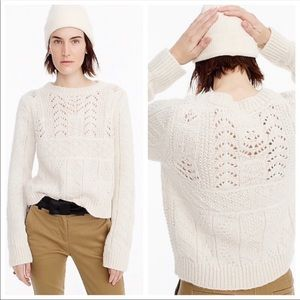 J.Crew 1988 Cable Knit Sweater in Ivory
